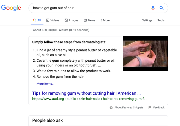 gum-from-hair